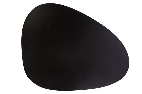 Placeset oval leather look black 30.5x39cm (Item No.2427)