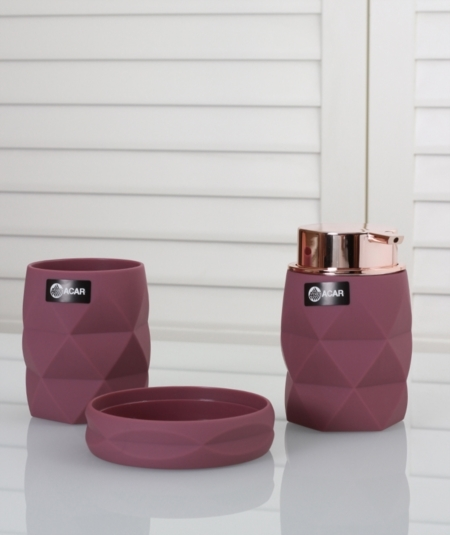 3pcs. bathroom accessories setdark purple(Item No. 2605)